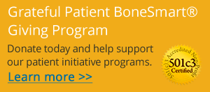 Support BoneSmart with a Tax Deductible Donation